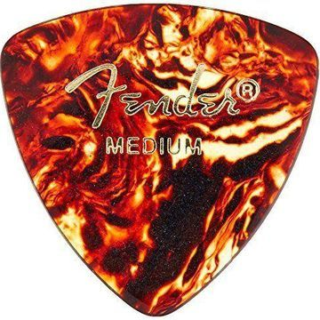 Fender 346 Classic Celluloid Guitar Picks 72-Pack - Shell - Medium for electric
