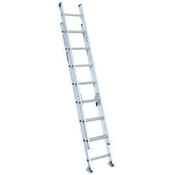 Werner D1200 Aluminum 16-ft Type 2 - 225 lbs. Extension Ladder