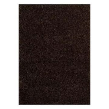 United Weavers Columbia Ramie Solid Shag Rug, Dark Brown, 8X10.5 Ft