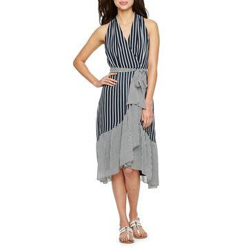 Danny & Nicole Sleeveless Stripe Dress