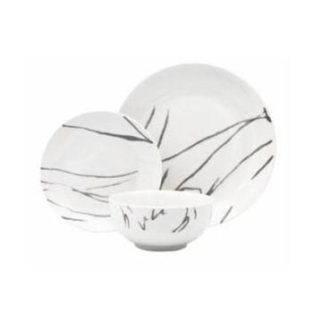 Godinger White and black 12-pc Dinnerware Set, Service for 4