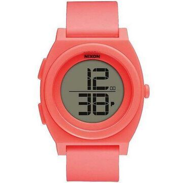 Nixon A417-2054 Time Teller Unisex Orange Rubber Band With LCD Digital Watch