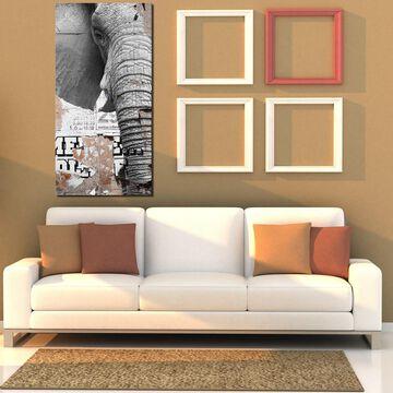 Ready2HangArt 'Saddle Ink Elephant III' Canvas Animal Art