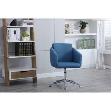 Porthos Home Home Office Chair, Executive Office Chairs with Armrests - Comfortable, Height Adjustable Modern Elegance for Your Office, Functional and Perfect for Home/Office - Blue or Grey