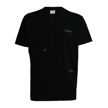 Marcelo Burlon County Of Milan Embroidered Logo T-Shirt