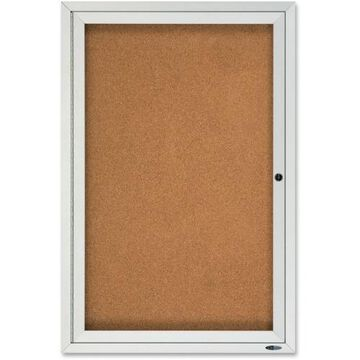 Quartet Enclosed Cork Bulletin Board for Outdoor Use