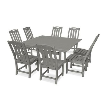 Trex Outdoor Furniture Yacht Club 9-Piece Gray Frame Dining Patio Dining Set with Dining
