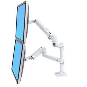 Ergotron LX Dual Monitor Stacking Arm (white) Desk Mount
