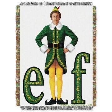 Warner Brothers Elf Movie Pose Triple Woven Tapestry Throw