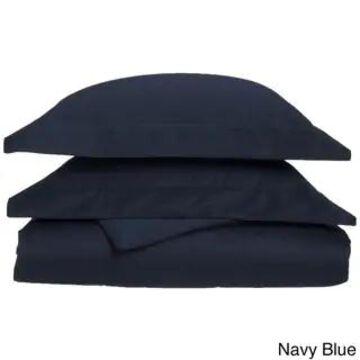 Superior 1000 Thread Count Wrinkle Resistant Cotton Blend Duvet Cover Set (Navy - California King)