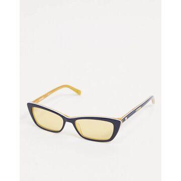 Love Moschino square cat eye sunglasses in blue