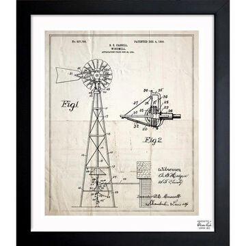 Oliver Gal 'Windmill 1906' Framed Blueprint Art
