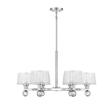 Savoy House Hanover 32 Inch 6 Light Chandelier Hanover - 1-6302-6-109 - Modern Contemporary