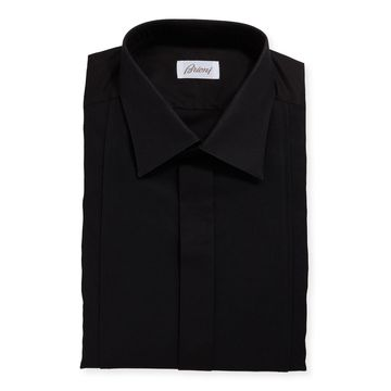 Men's Bib Front Formal Tuxedo Dress Shirt