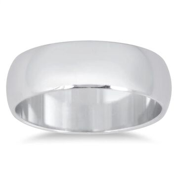 Marquee Jewels 950 Platinum 6 mm Comfort Fit Domed Wedding Band