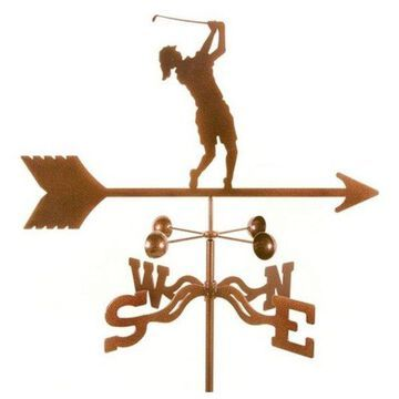 EZ Vane Female Golfer Weathervane With Roof Mount