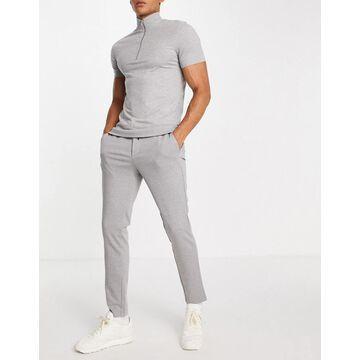 Jack & Jones Intelligence smart drawstring jersey pants in gray-Grey