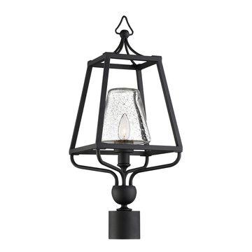 Crystorama 1-Light Sylvan Outdoor Lantern Post
