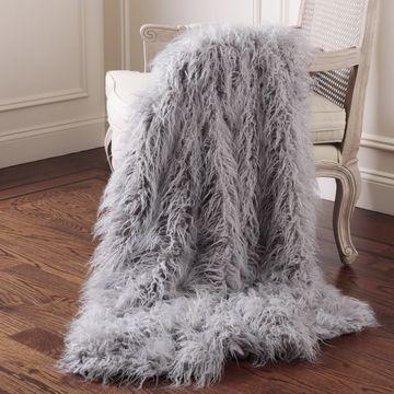 Aurora Home Mongolian Lamb Faux Fur Throw
