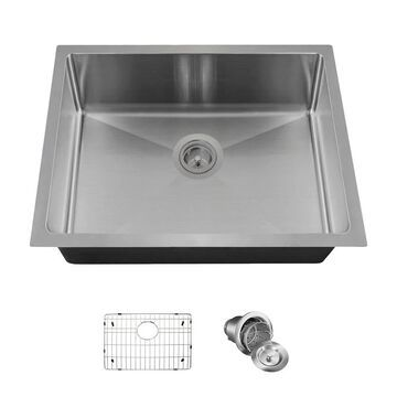 MR Direct ADA1823 3/4-Inch Radius Stainless Steel Sink, Grid, and Basket Strainer