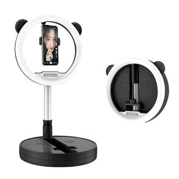 10-inch 128-LED Ring Light - Folding Collapsible Design, USB Power, Adjustable Controls