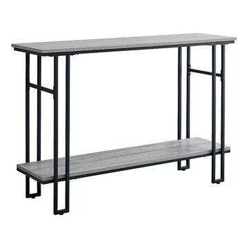 Monarch H-Frame Console Table, Grey