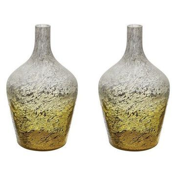 Lazy Susan Lemon Ombre Bottles, Set Of 2