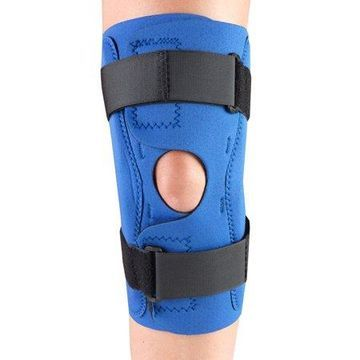 OTC Neoprene Knee Stabilizer Wrap - Hinged Bars, Blue, Medium