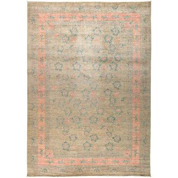 Solo Rugs One-of-a-kind Eclectic Hand-knotted Area Rug 10' x 14'
