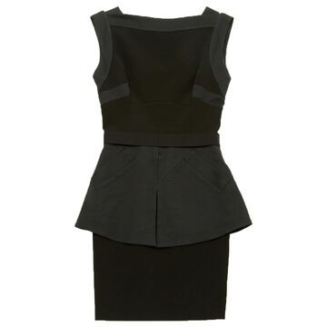 Victoria Beckham Black Viscose Dresses