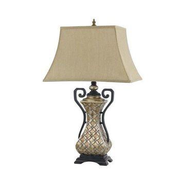 Cal Lighting BO-2434TB 150W 3 Way Montgomery Resin Table Lamp