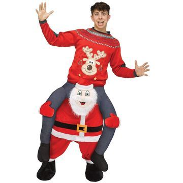 Fun World Carry Me Santa Adult Costume-Standard