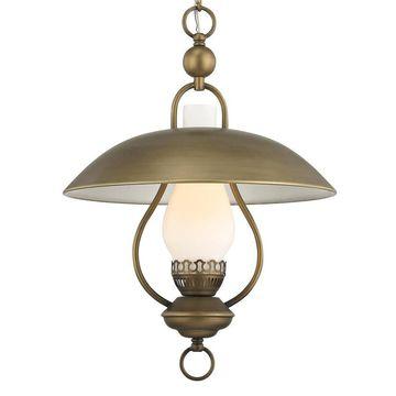 allen + roth Odessa Aged Brass Single Traditional Lantern Pendant Light