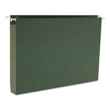 Smead One Inch Capacity Box Bottom Hanging File Folders Legal Green 25/Box 64339