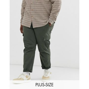 Only & Sons tapered cargo pants in khaki-Green