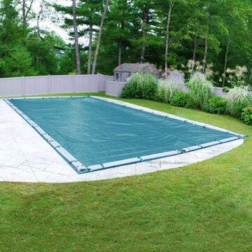 Robelle 12-Year Galaxy Rectangular Winter Pool Cover, 25 x 50 ft. Pool