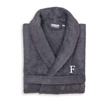 Linum Home Textiles Turkish Cotton Personalized Unisex Terry Cloth Bathrobe, Men's, Size: Small/Medium, Grey