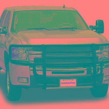 2012 GMC Sierra Go Industries Rancher Grille Guard in Ultimate Armor