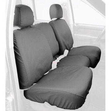 Covercraft Custom-Fit Rear-Second Seat Bench SeatSaver Seat Covers - Polycotton Fabric, Grey