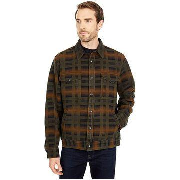 Filson Beartooth Camp Jacket (Black/Olive/Brown Plaid) Men's Coat