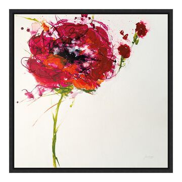 Amanti Art 'Poppy Master on White' by Jan Griggs
