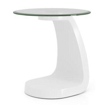 Furniture of America Kilvo Glass Top End Table