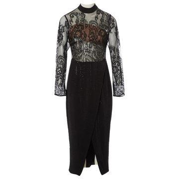 Self Portrait Black Polyester Dresses