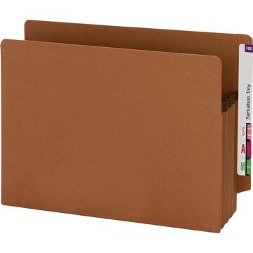Smead Extra Wide 100% Recycled End Tab Redrope Pockets - Letter - 8 1/2
