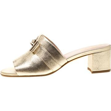 Tod's Gold Leather Sandals