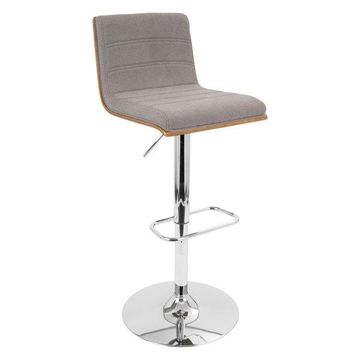 LumiSource Vasari Barstool, Gray
