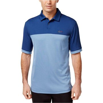 Greg Norman Mens Two Tone Embossed Rugby Polo Shirt