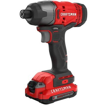CRAFTSMAN V20 20-volt Max Variable Speed Brushless Cordless Impact Driver (2-Batteries Included) | CMCF800C2