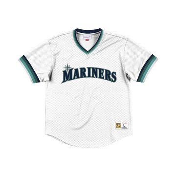 Men's Seattle Mariners Mesh V-Neck Jersey