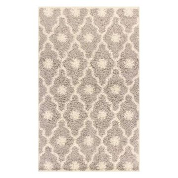 Superior Alyssum Western Shag Area Rug, Light Grey